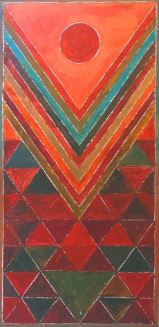 S. M. H. Raza  Utpatti, 2011  Acrylic on canvas  48h x 24w in
