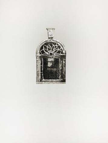Najmun Nahar Keya  Corinthian Dhaka (16)  Charcoal, graphite, rabbit skin glue, silver, on Fabriano archival paper  11 x 14 in.  2019
