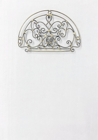 Najmun Nahar Keya  Yume-no-sen (2), 2019  Gas welded brass and gold leaf on Japanese paper, wood, archival glue  16 x 11.50 in