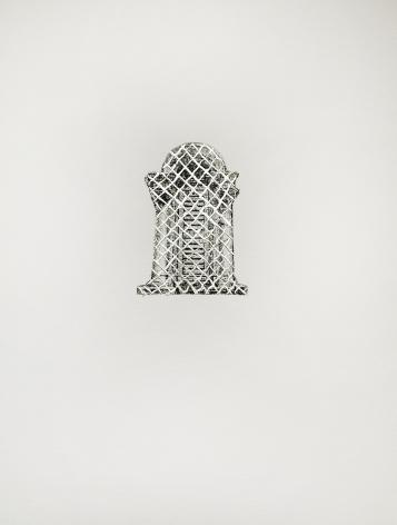 Najmun Nahar Keya  Corinthian Dhaka (18)  Charcoal, graphite, rabbit skin glue, silver, on Fabriano archival paper  11 x 14 in.  2019