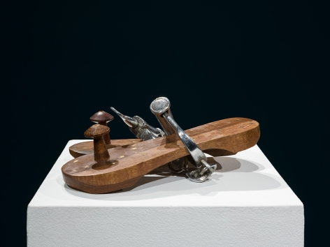 G.R. Iranna  Hold the Peace   2009  Wood, stainless steel, and brass  4 x 6 x 8
