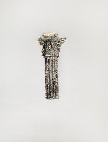 Najmun Nahar Keya  Corinthian Dhaka (6)  Charcoal, graphite, rabbit skin glue, silver, on Fabriano archival paper  11 x 14 in.  2019