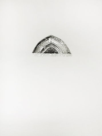 Najmun Nahar Keya  Corinthian Dhaka (1)  Charcoal, graphite, rabbit skin glue, silver, on Fabriano archival paper  11 x 14 in.  2019