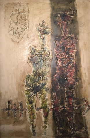 M.F Husain - Two Figures