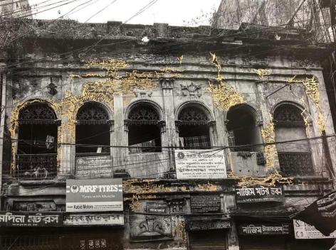 Najmun Nahar Keya  Kintsugi Dhaka (12)  2020  Photograph on archival paper, gold leaf,archival glue  17 x 23 in.