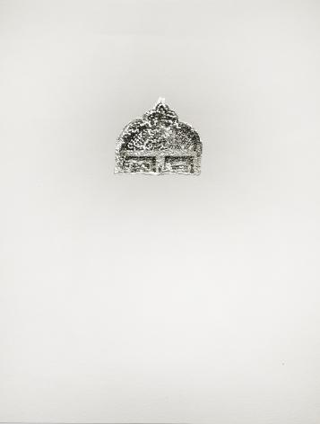 Najmun Nahar Keya  Corinthian Dhaka (3)  Charcoal, graphite, rabbit skin glue, silver, on Fabriano archival paper  11 x 14 in.  2019
