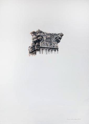 Najmun Nahar Keya  Corinthian Dhaka (26)   Charcoal, graphite, rabbit skin glue, copper, on Fabriano archival paper  28 x 20  2019