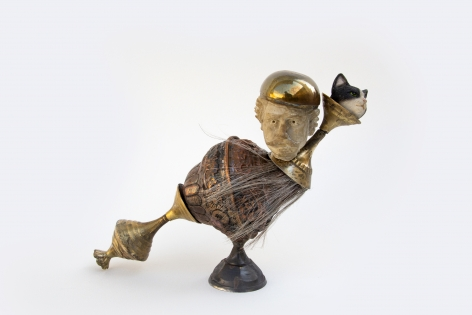 Affan Baghpati  All The Things We Do, 2021  Assemblage, found objects, cast, brass, copper, polymer resin, epoxy  6.7 x 8.66 x 3.5 in