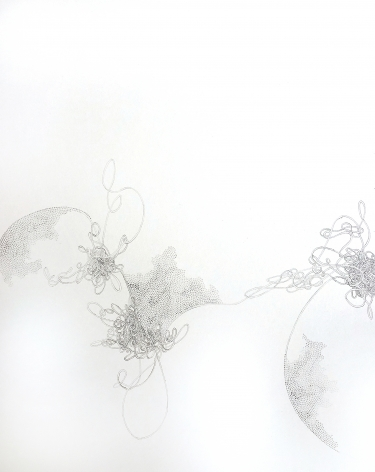 Grace Beck Touch, 2020 Graphite on rag paper 18h x 14w in