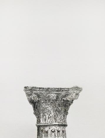 Najmun Nahar Keya  Corinthian Dhaka (20)  Charcoal, graphite, rabbit skin glue, silver, on Fabriano archival paper  11 x 14  2019