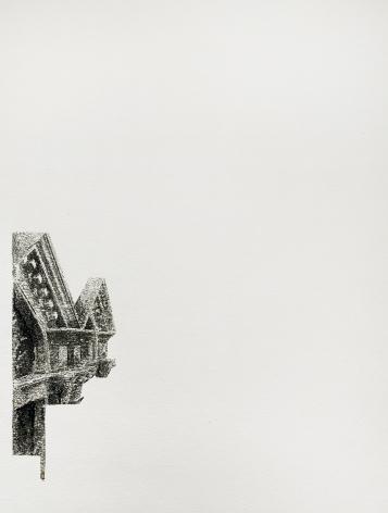 Najmun Nahar Keya  Corinthian Dhaka (21)  Charcoal, graphite, rabbit skin glue, silver, on Fabriano archival paper  11 x 14  2019