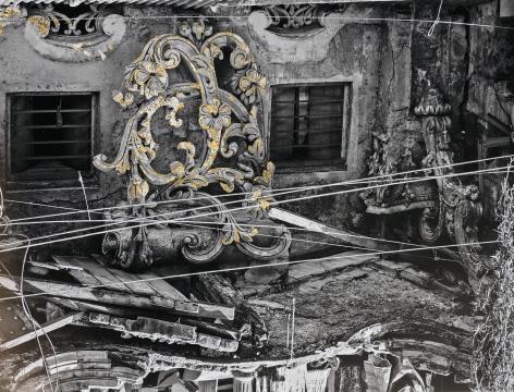 Najmun Nahar Keya  Kintsugi Dhaka (3), 2019  Photograph on archival paper, gold leaf, archival glue  13 x 17 in