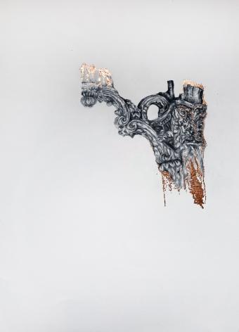 Najmun Nahar Keya  Corinthian Dhaka (24)  Charcoal, graphite, rabbit skin glue, copper, on Fabriano archival paper  28 x 20  2019