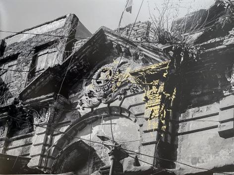 Najmun Nahar Keya   Kintsugi Dhaka (9)  Photograph on archival paper, gold leaf, archival glue  13 x 17 in.  2019