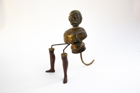 Affan Baghpati  I Wonder As I Pray, 2021  Assemblage, found objects, cast, brass, polymer resin, epoxy  8.6 x 8.26 x 4.3 in