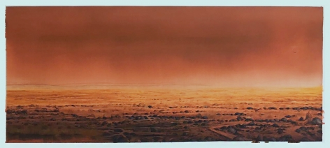 Sujith S. N.   Untitled   2020  Watercolor on paper  34 x 80 in.