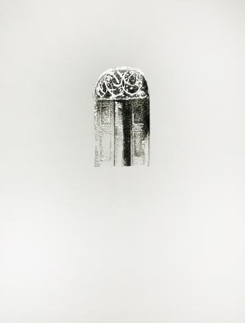 Najmun Nahar Keya  Corinthian Dhaka (2)  Charcoal, graphite, rabbit skin glue, silver, on Fabriano archival paper  11 x 14 in.  2019