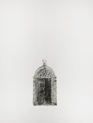 Najmun Nahar Keya  Corinthian Dhaka (22)  Charcoal, graphite, rabbit skin glue, silver, on Fabriano archival paper  11 x 14  2019