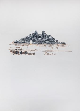 Najmun Nahar Keya  Corinthian Dhaka (31)   Charcoal, graphite, rabbit skin glue, copper, on Fabriano archival paper  28 x 20  2019