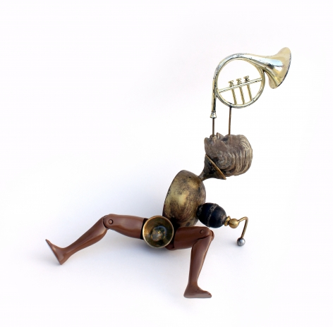Affan Baghpati  You Know I Love You, 2021  Assemblage, found objects, cast, brass, polymer resin, epoxy, glass crystals, beads  9 x 8.66 x 6.7 in
