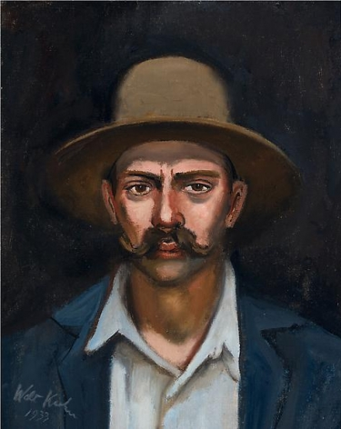Woodsman, 1933 Oil on canvas, 20 x 16 inches