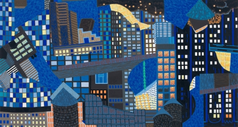 Delirious Manhattan, 2014, Oil on linen