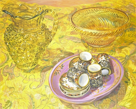 Bob's Brocade, 2000, Oil on canvas
