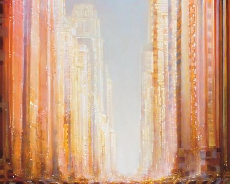 Horizontal Gold Cityscape, 2014