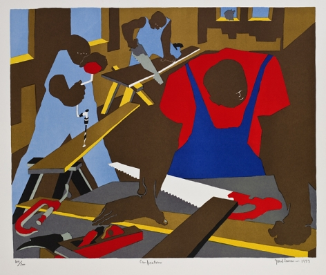 Carpenters, 1977 Lithograph on Rives BFK paper