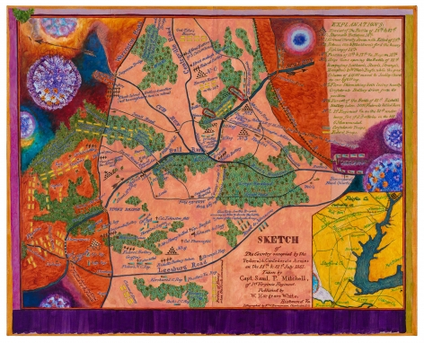 Uncivil Wars:Battle of Bull Run, 2020, Acrylic on canvas