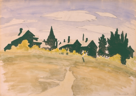Noon In September, 1916, Watercolor and graphite on paper