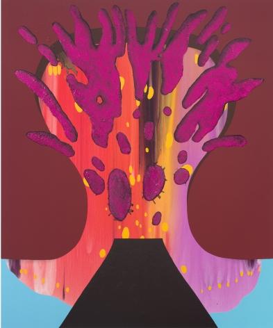 Brainiac, 2017 Acrylic and glitter on canvas