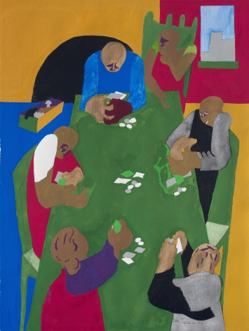 Jacob Lawrence Games-Five Card Stud, 1999