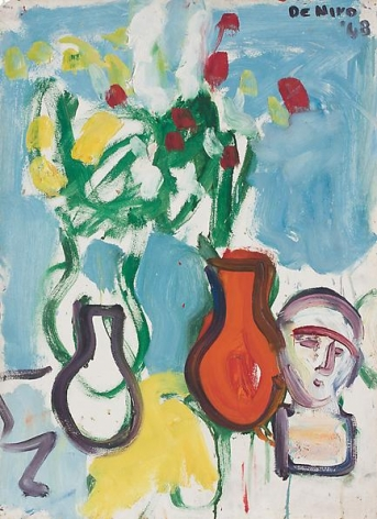 Still Life with Three Vases and Bust, 1968