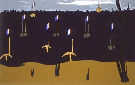 Flotilla, 1996 Silk screen on paper