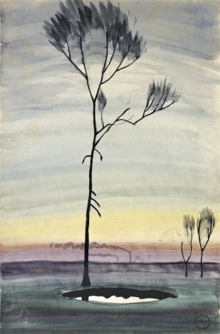 Charles Burchfield Tree and Pond, c. 1920