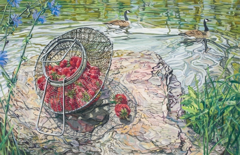 Strawberries, Geese, 2006, Oil on canvas
