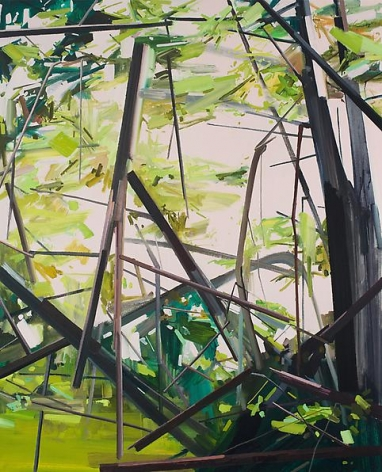 Trees, 2014 Oil on canvas, 96 x 78 inches