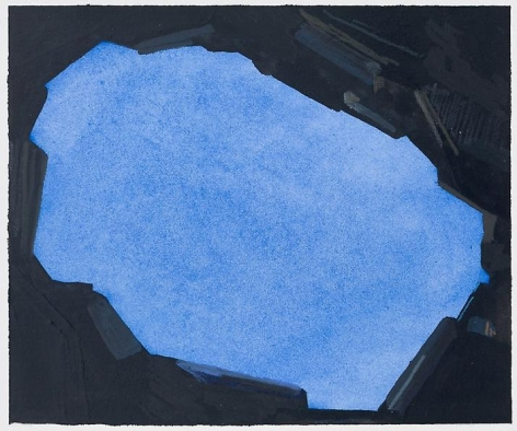 Sky, 2014 Mixed media on paper, 4 3/8 x 5 3/4 inches (image); 9 x 12 inches (paper)