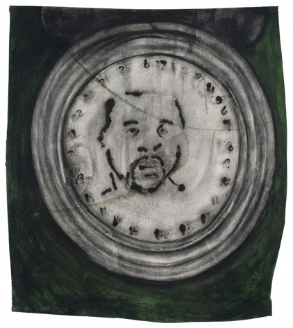 Time, 1998, Oil stick and charcoal on paper