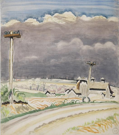 Road with Telephone Poles, May 26, 1917.