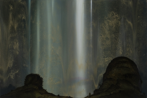 Waterfall, 2019 Oil on wood panel