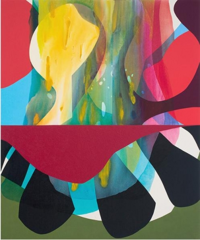 The Wishing Table, 2015. Acrylic and flashe on canvas, 72 x 60 inches.