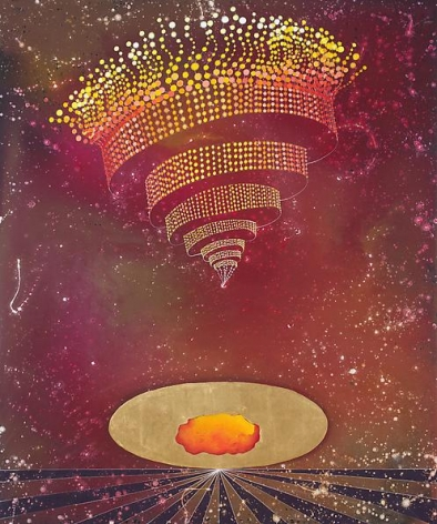 Barbara Takenaga, Red Cloud (golden egg), 2013.