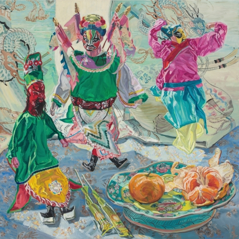 Chinese Puppets, 1988, Oil on linen