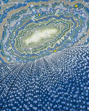 Barbara Takenaga, Geode Sky (tipped horizon), 2013.