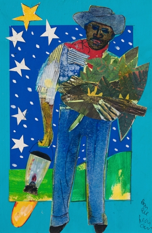 Bayou Fever, The Father Comes Home, 1979, Collage on fiberboard