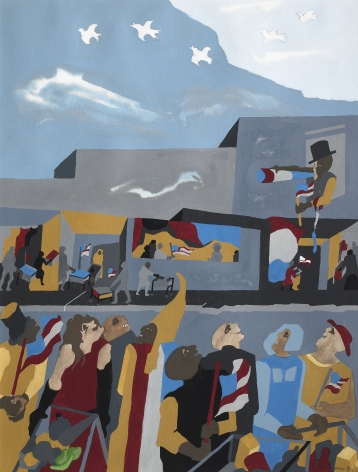 Jacob Lawrence, Supermarket - Celebration, 1994