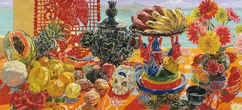 Patzcuaro, 1989 Oil on canvas, 42 x 92 inches