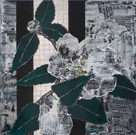 Robert Kushner, White Camellia Marbellized, 2012